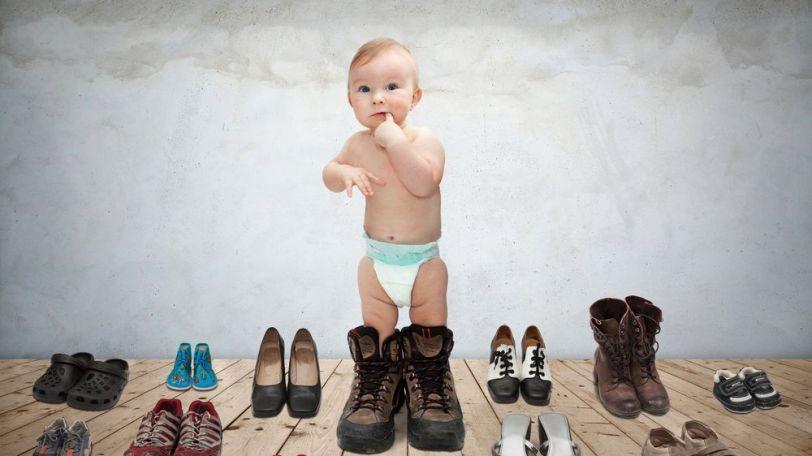 Detské chodidlá - topánky