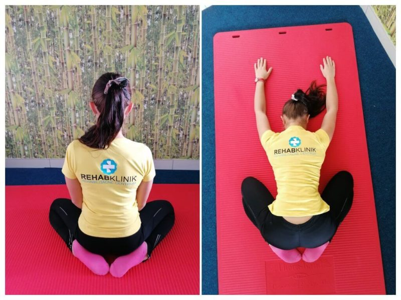 Rehabilitačný cvik na chrbticu